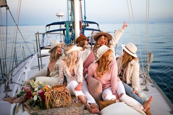 Women on a sailboat